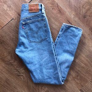Levi's 501 Skinny Ripped Jean